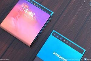 Ngắm mẫu smartphone gập Galaxy Wing Bezelless đẹp mê mẩn